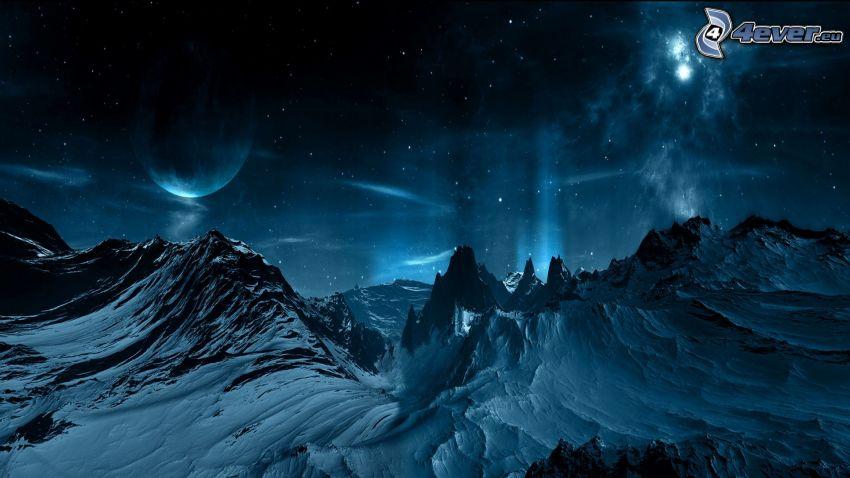 paisaje de invierno, universo