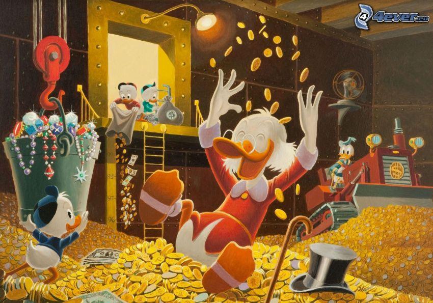 Pato Donald, dinero