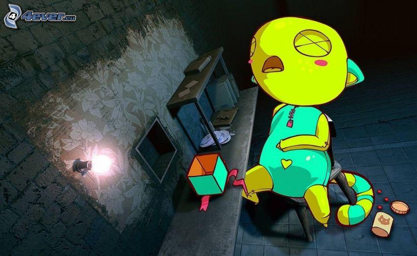 Personaje de dibujos animados, dormir