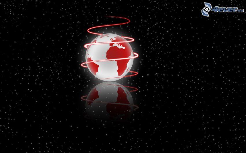 Planeta Tierra, espiral, cielo estrellado