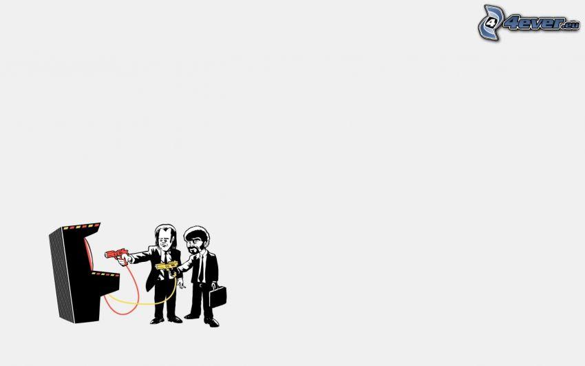 Pulp Fiction, caracteres, autómata
