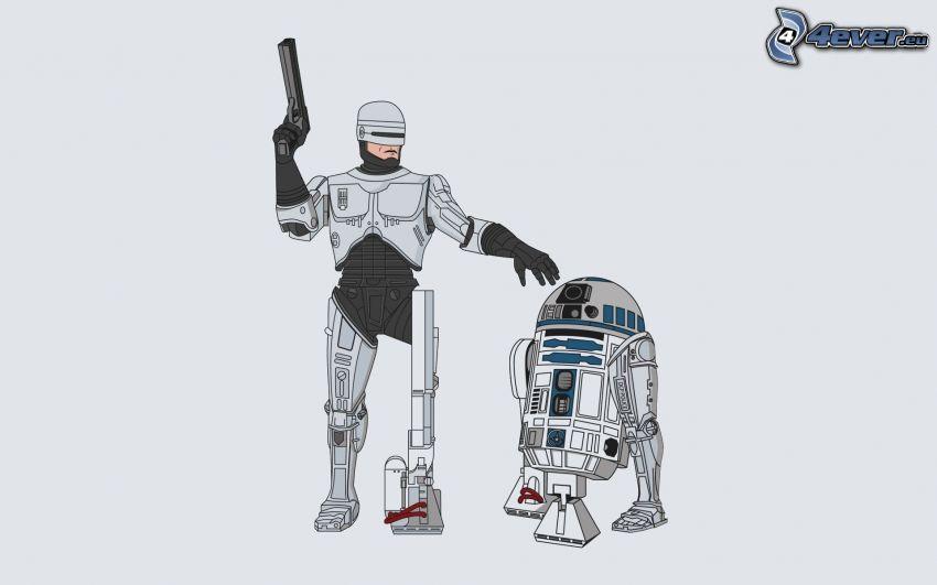 RoboCop, R2 D2