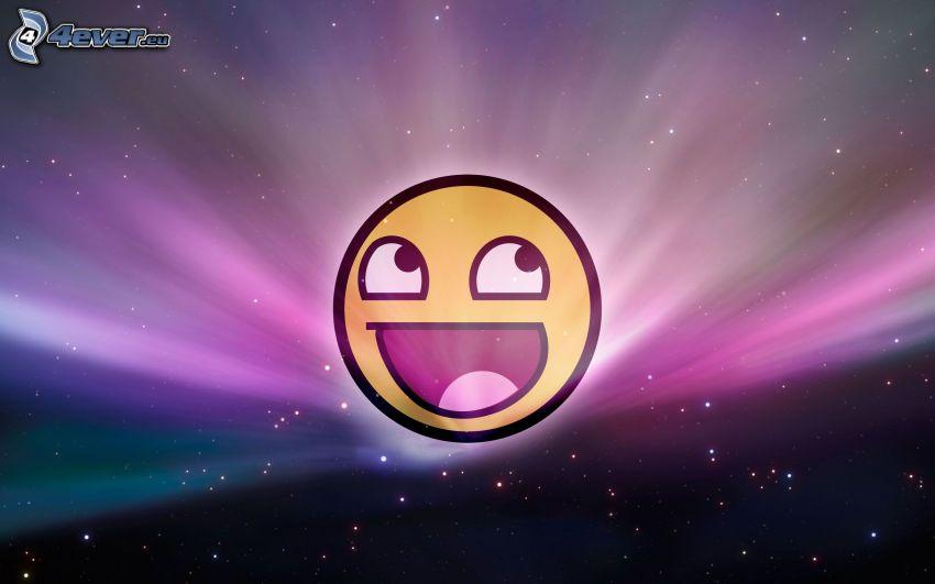 Smiley, cielo estrellado