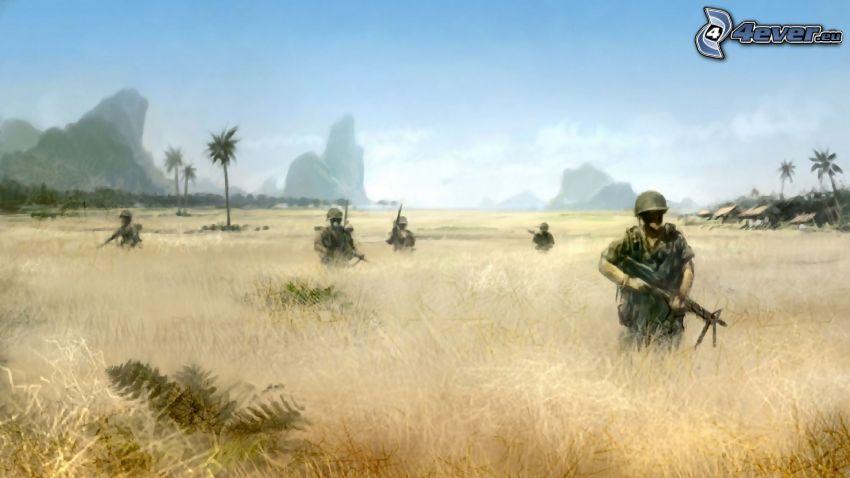 soldados, campo