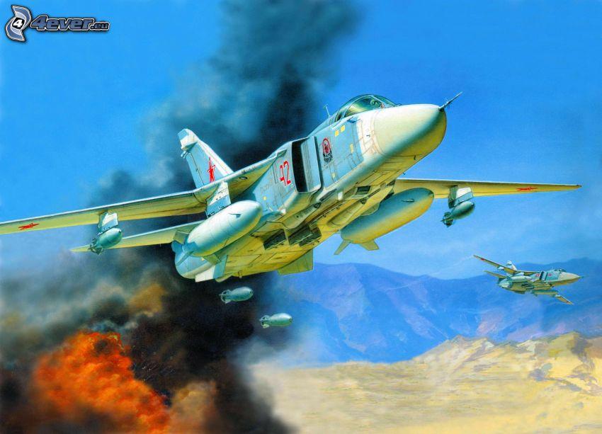 Sukhoi Su-24, explosión