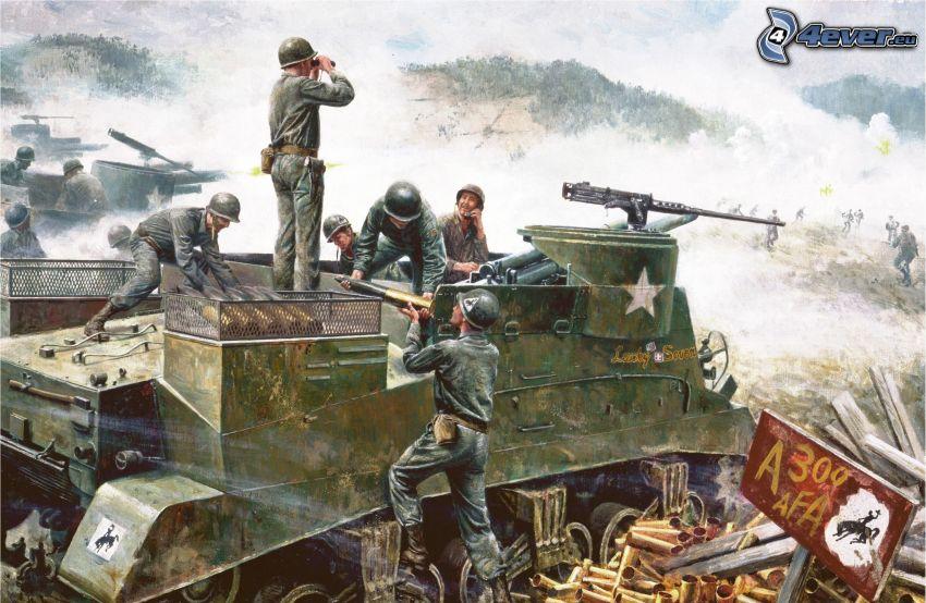 tanques, soldados