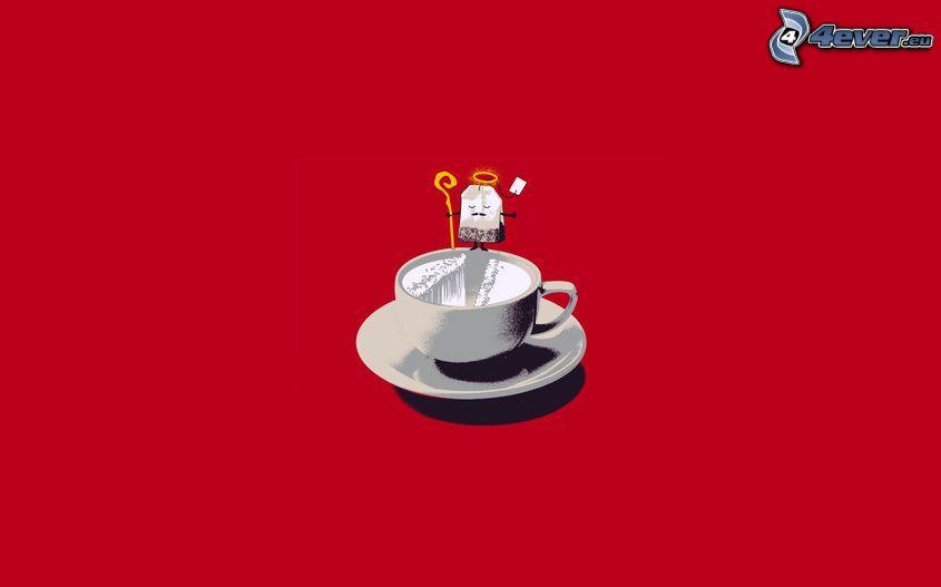 té, taza, aureola, Moisés
