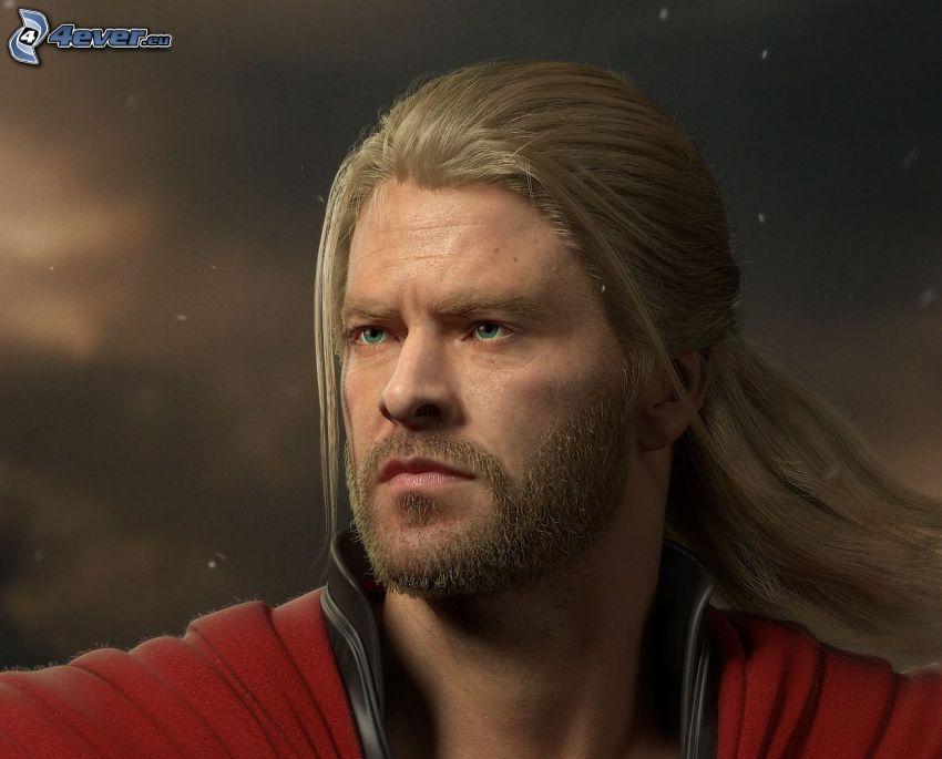 Thor, hombre, rubio