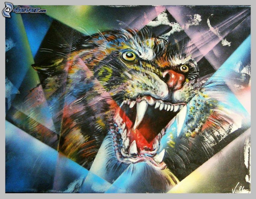 tigre, rugido