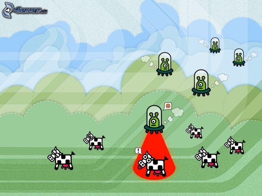 Vacas, extraterrestres