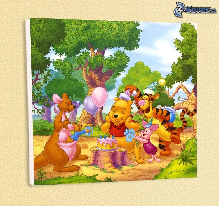 Winnie the Pooh, celebración, cumpleaños