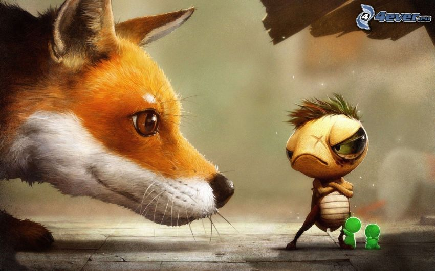 zorro, hocico, personajes de dibujos animados