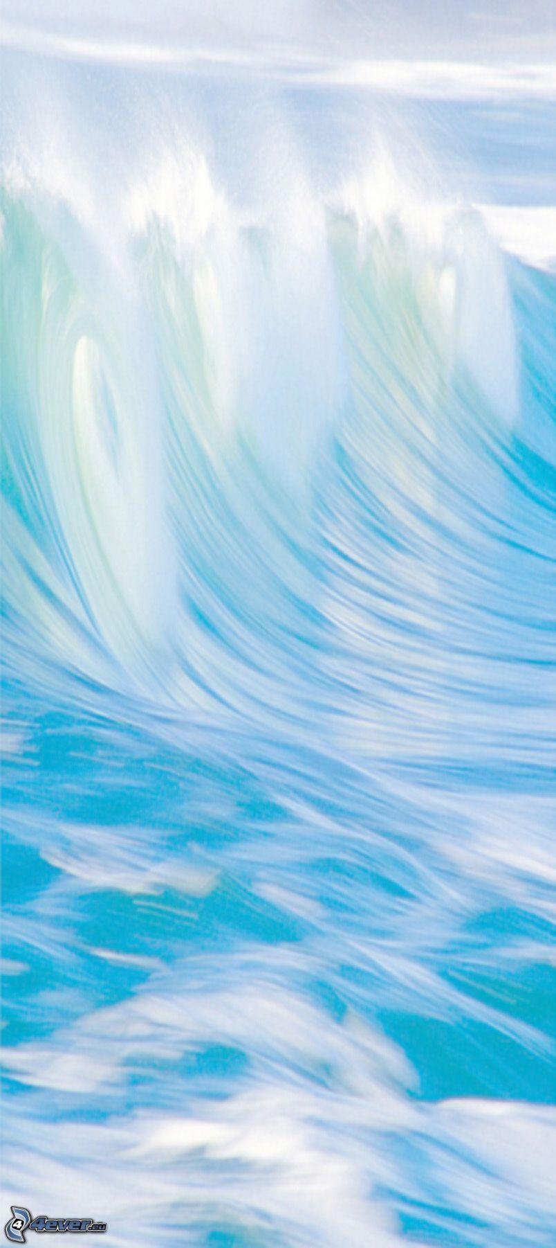 agua, cielo, ondas, belleza