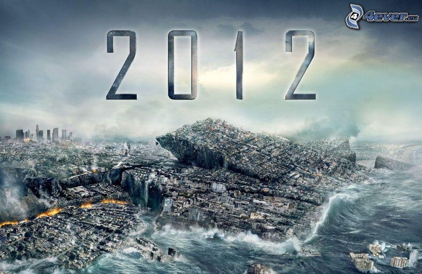 2012, Fin del Mundo, mar tormentoso