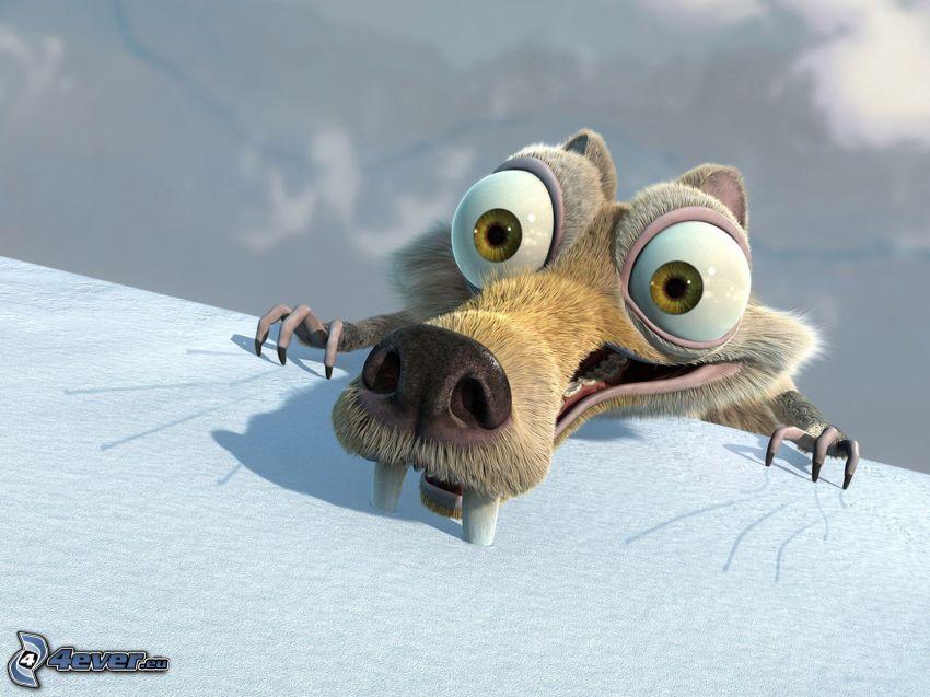 ardilla de la película Ice Age