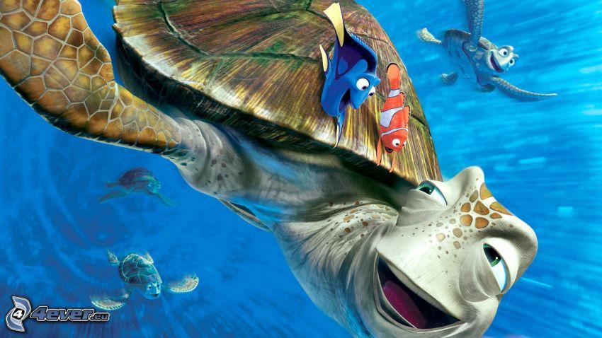 Buscando a Nemo, Tortugas