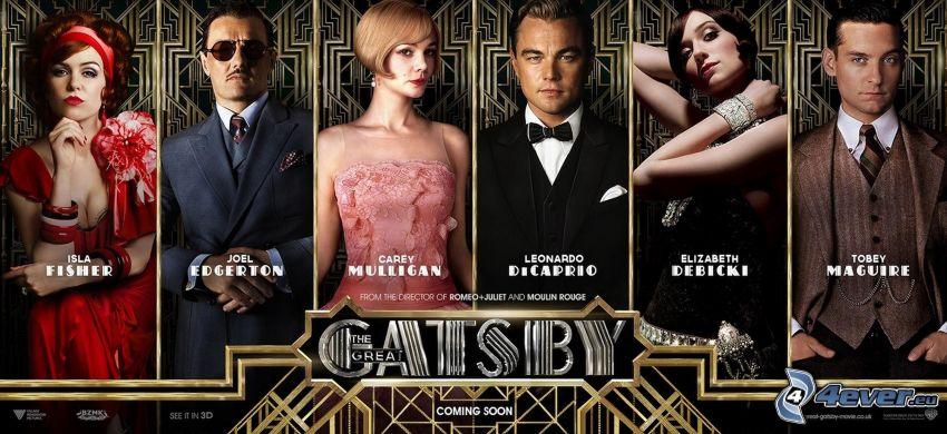 El Gran Gatsby, Myrtle Wilson, Daisy Buchanan, Jay Gatsby, Jordan Baker, Nick Carraway