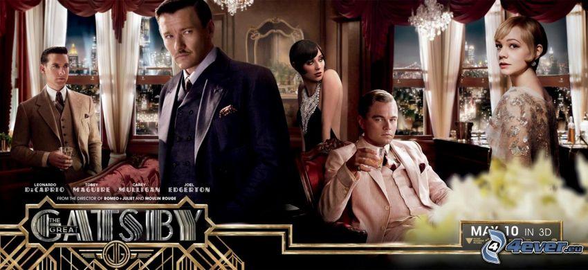 El Gran Gatsby, Nick Carraway, Daisy Buchanan, Jay Gatsby, Jordan Baker