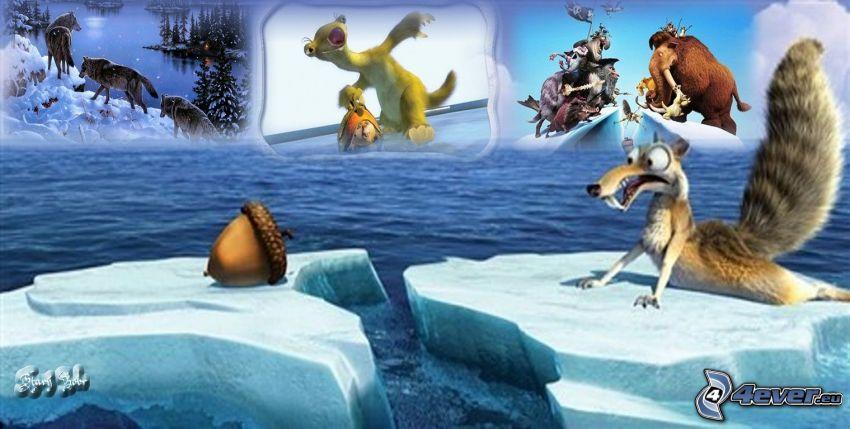 Época glacial, collage