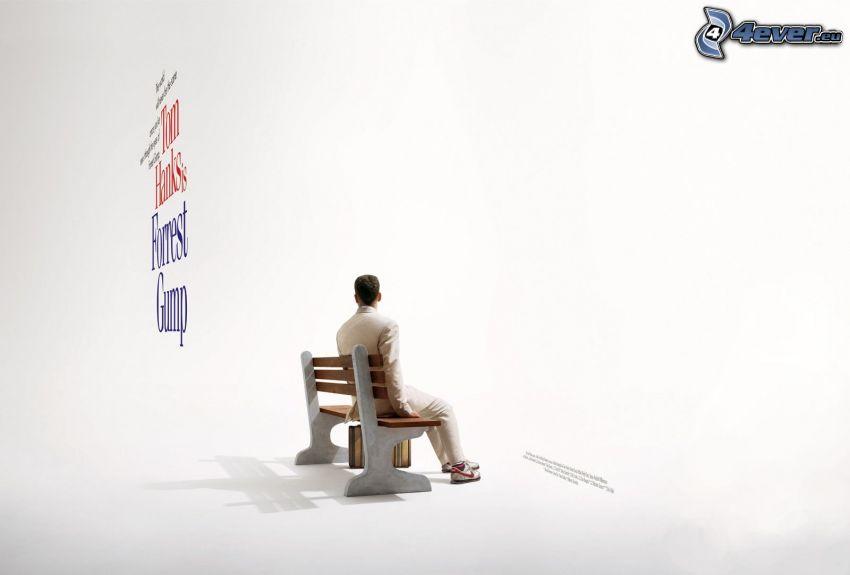 Forrest Gump, Tom Hanks, hombre en el banco