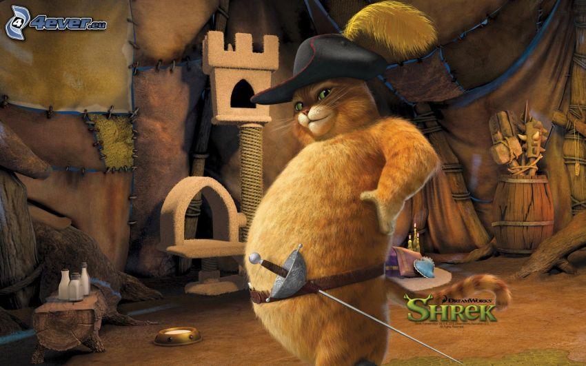 Gato en Botas, Shrek