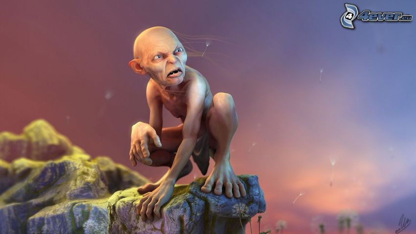 Gollum, Señor de los anillos