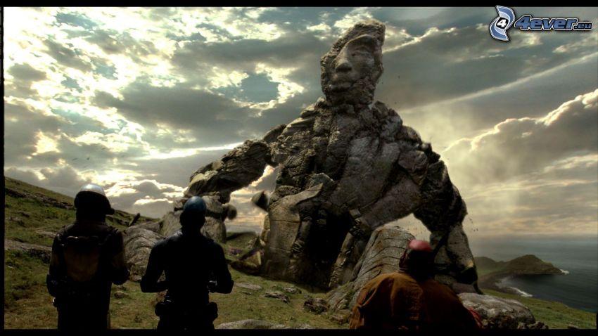 Hellboy 2, estatua, nubes