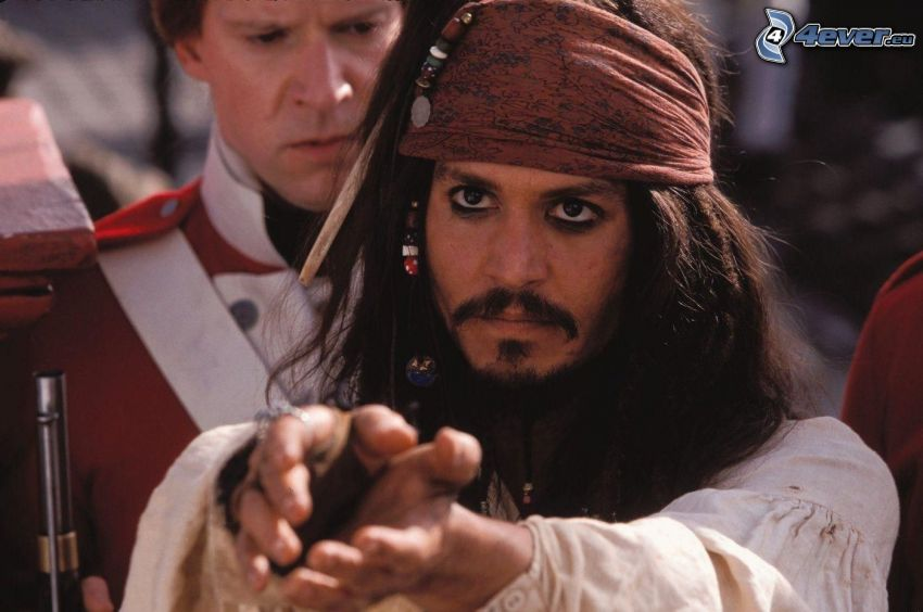 Jack Sparrow, Johnny Depp, Piratas del Caribe