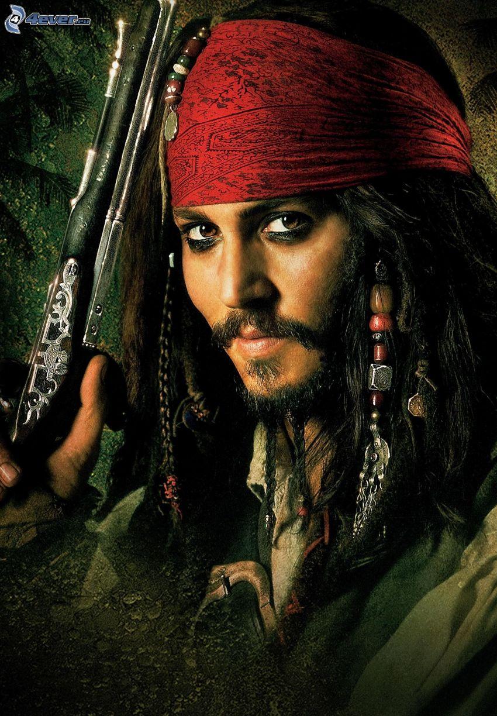 Jack Sparrow, Piratas del Caribe, Johnny Depp