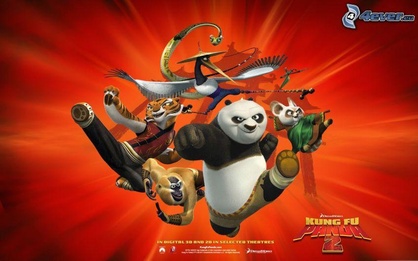 Kung Fu Panda 2, cartel, película, luchadores