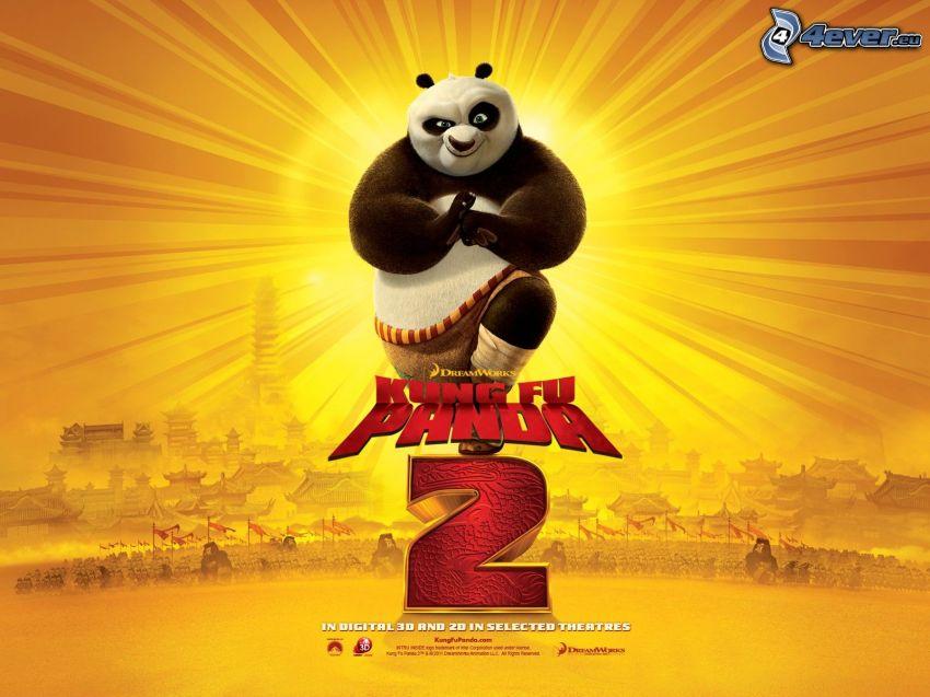 Kung Fu Panda 2, película, cartel, Panda Po