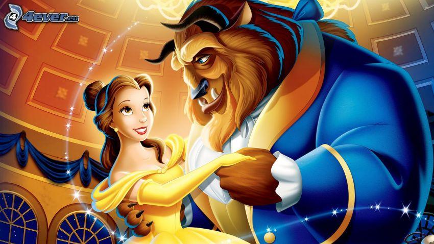 La Bella y la Bestia, dibujos animados