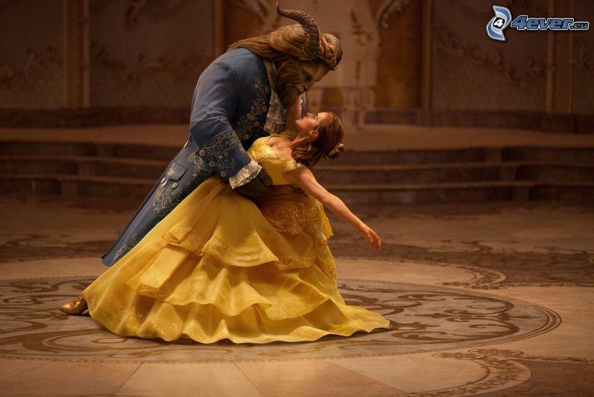 La Bella y la Bestia, Emma Watson, vestido amarillo, baile