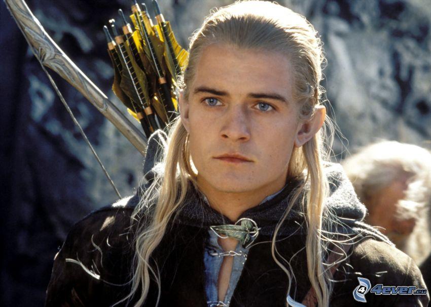 Legolas, Señor de los anillos, arquero, elf, Orlando Bloom