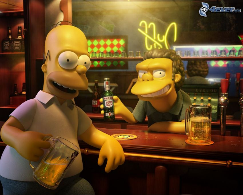 Los Simpson, bar, caracteres