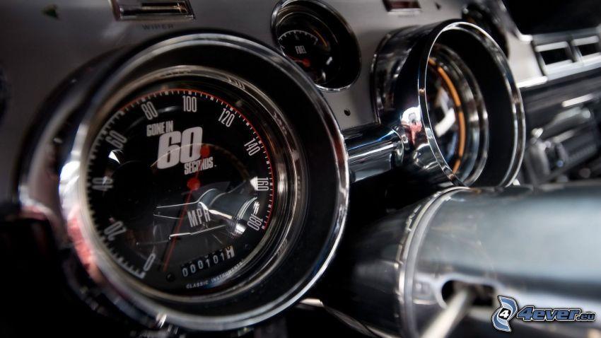 Need For Speed - The Run, velocímetro, interior