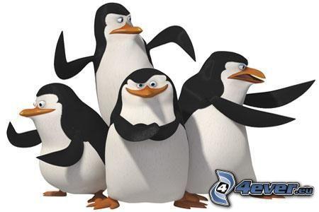 Pingüinos de Madagascar, pingüino de la historieta