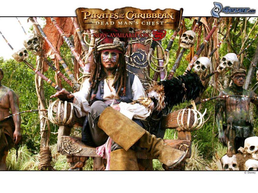 Piratas del Caribe, cráneos, aborígenes