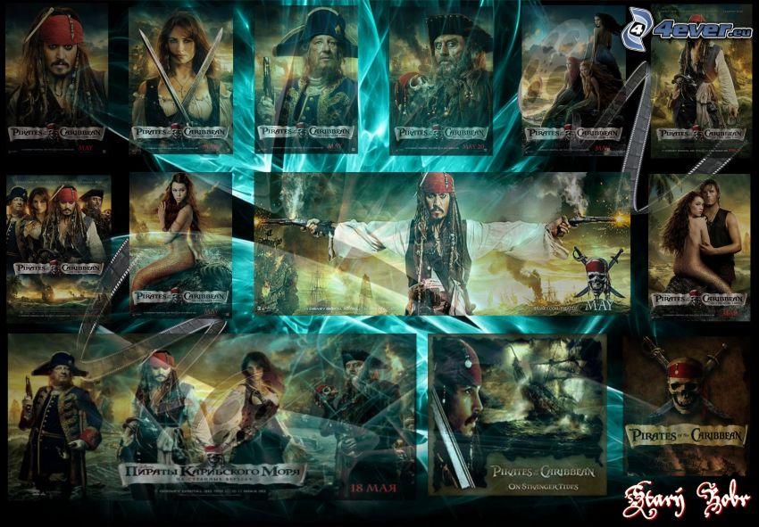 Piratas del Caribe, Jack Sparrow, collage