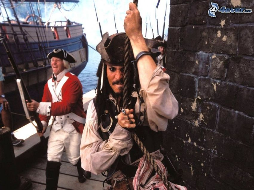Piratas del Caribe, Jack Sparrow, Johnny Depp