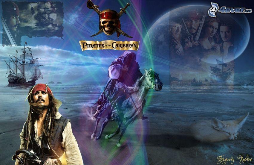 Piratas del Caribe, Jack Sparrow, perla negra
