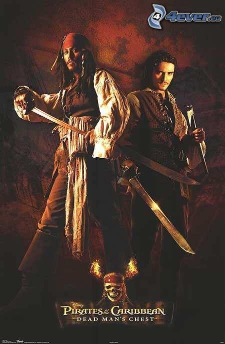 Piratas del Caribe, Jack Sparrow, Will Turner
