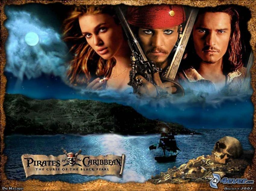 Piratas del Caribe, Pirates of the Caribbean, Jack Sparrow, Will Turner