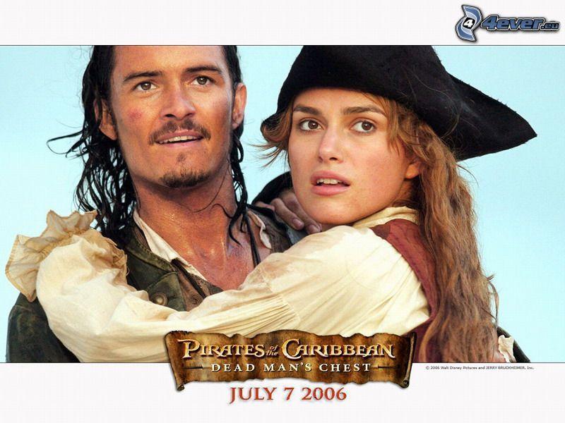Piratas del Caribe, Will Turner, Elizabeth Swann