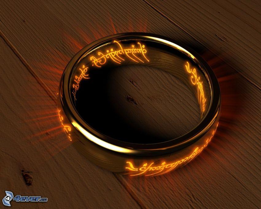 Señor de los anillos, anillo
