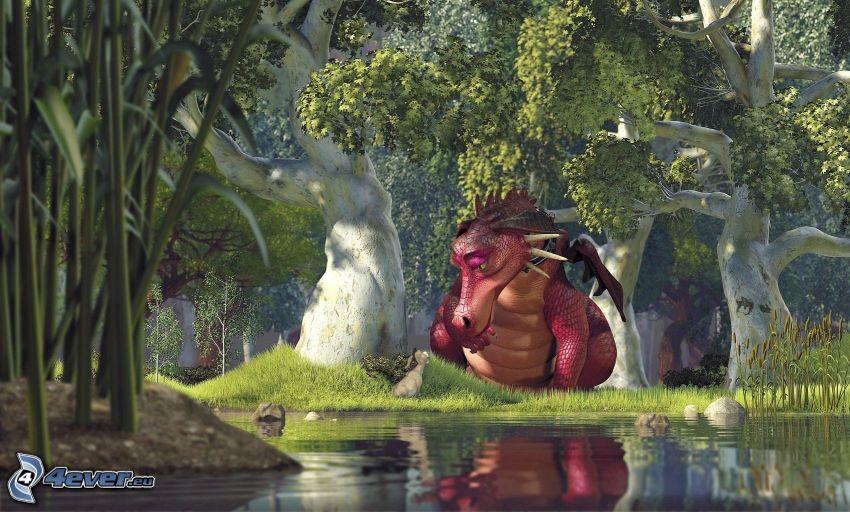 Shrek, dragón