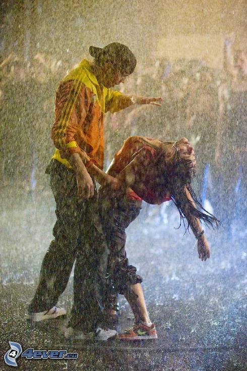 Step Up, bailando bajo la lluvia