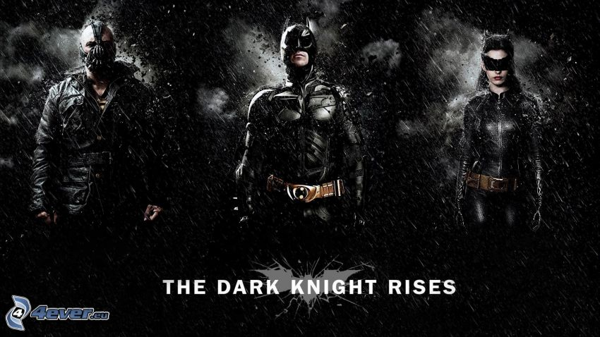 The Dark Knight Rises, Bane, Batman, Catwoman