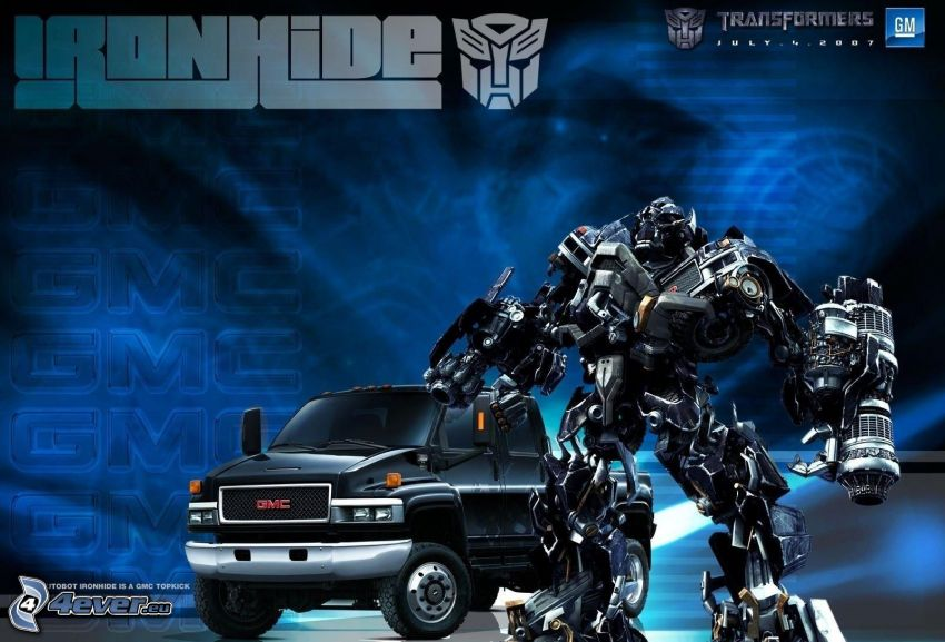 Transformers, Ironhide, robot, GMC