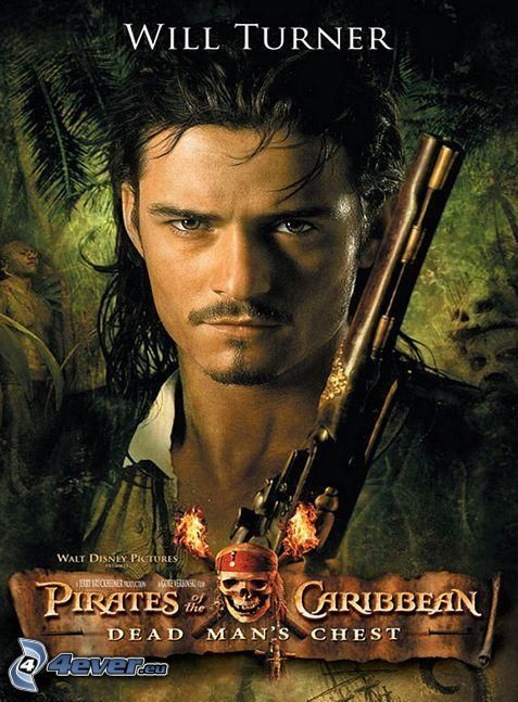 Will Turner, Orlando Bloom, Piratas del Caribe